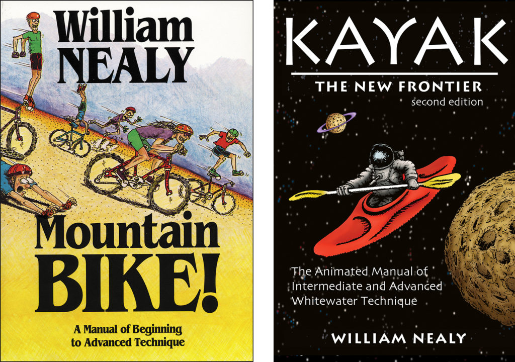 Mountain Bike! and Kayak book covers by William Nealy