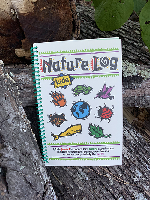 Cover of the spiral bound Nature Log Kids book by Adventure Publications.